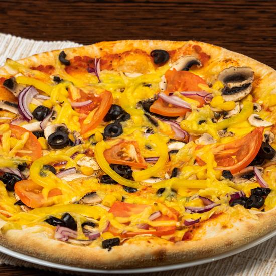 Poza cu Pizza Vegetariană