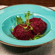 Poza cu Salată de sfeclă roșie cu hrean